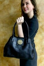 Kate Spade Black Smooth Buttery soft Leather Small Jessie Bexley handbag tote