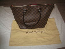 Authentic Louis Vuitton Saleya PM Damier Ebene Tote Bag Handbag