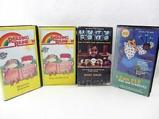 4 VHS LOT - Kids Reading Sam the Sea Cow Rainbow  I Can Fly Animation for Kids