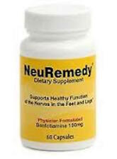 NeuRemedy Dietary Supplement HEALTHY FEET! Benfotiamine 150mg 60 Capsules