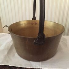 Vintage Jelly / Jam Preserve Brass Pan with One Way Swing Handle, Pouring Lever
