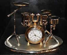 Drum Set Clock Drummer Gift Music Gift Desktop Office