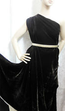 By the Meter Grade AAAAA Silk Velvet Fabric Clothing Material Black +free button