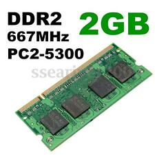 2GB DDR2-667 PC2-5300 667 Mhz NON-ECC SODIMM 200-Pin Laptop Notebook Memory RAM