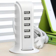 5 Port 40W  8A Travel Portable USB Wall Power Charger Adapter Multiple Devices
