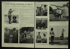 Clay Pigeon Shooting English Open Grand Prix Bisley 1963 2 Page Photo Article
