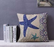 Star Fish Pillow / Cushion Cover - Beach Ocean Sea Theme Blue / Aqua / Turquiose