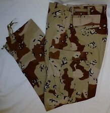 Desert Storm 6 Color Chocolate Chip BDU Pants X-Small X-Short 50/50  New DCU