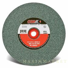 "CGW 6""X1/2""X1"" Green Silicon Carbide Straight Grinding Wheel Grit-60 Medium T-1"