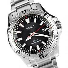 Seiko MENS solor Drivers 200m Watch SNE293P1 Warranty, Scatola, RRP: £ 250