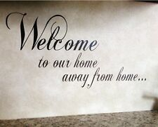 """""""Welcome to our home"""" Vinyl Wall Decal Sticker Decor Rv Camp Trailer Motorhome"""
