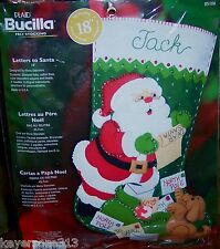 Bucilla LETTERS TO SANTA Felt Christmas Stocking Kit Puppy Dog OOP 85106