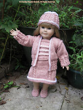 "Dolls Clothes KNIT PATTERN  ""Brittany""sized to fit 46cms dolls & American Girl"