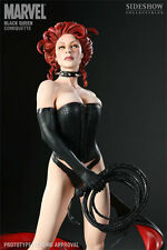Sideshow Exclusive BLACK QUEEN Comiquette Statue #401/850 SIGNED AH Marvel