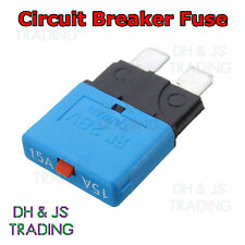 15a Circuit Breaker Blade Fuse 12V 24V Resettable Marine Rally Automotive Fuses