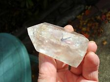 Lemurian Golden Healer-Lightning Stuck Quartz Point! Power House-Rainbows!