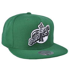 Hardwood Classics Mitchell Ness NBA Seattle Supersonics Sports Team Snapback Hat