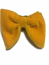 Mens FERUCCI Oversized Bow Tie - Gold Velvet Bowtie, Mens big bow tie