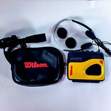 Wilson Portable AM FM Radio Cassette Water Resistant Tape Player WSW 889 + Case