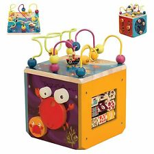 New B. UnderWater Zoo Wooden Baby Toddler Activity Cube Educational Toy