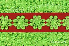 Guipure Daisy Lace Trim Applique Flower Motifs 23mm 12 Colours Listed