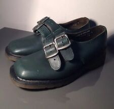 Vintage Ladies George Cox Rare Dr Martens Green Buckle Shoes Uk3