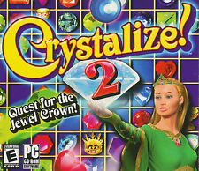 CRYSTALIZE 2 Quest for the Jewel Crown Puzzle Game NEW! E for Everyone