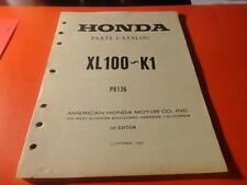 NOS NEW OEM FACTORY HONDA PARTS CATALOG MANUAL 1974 1975 XL100 80 PAGES