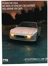Publicité Advertising 1984 Porsche 944