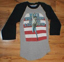 1984 80's Vintage Bruce Springsteen Concert Tour T Tee Raglan Small Shirt NICE