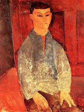 AMEDEO MODIGLIANI PORTRAIT OF MOISE KISLING OLD ART PAINTING PRINT 186OMA