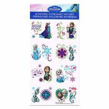 16 Disney Frozen Anna Elsa Childrens Birthday Party Loot Favor Tattoos Sheet