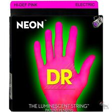 DR Strings NPE-10 Hi-Def Neon Pink Medium Electric Guitar Strings (10-46)