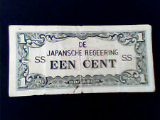 1940 's JAPANESE INDONESIA INVASION MONEY 1 CENT VINTAGE  collectibles
