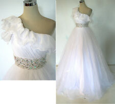 NWT Mac Duggal 6496H White $458 Wedding Prom Gown 4