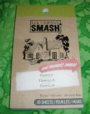 SMASH BOOK ACCESSORY - PAD - FAMILY CHILDHOOD LIST  - Journaling, Scrapbooking