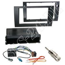 Seat Exeo Autoradio Radioblende+ Ablagefach schwarz ISO Adapterkabel Komplettset