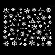 12Pcs 3D Nail Art Snowflake Stickers Christmas Transfers Decals Decoration