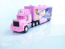 Disney Pixar Cars movie #76 Vinyl Toupee Team Racer's Hauler Truck Trailer Toy