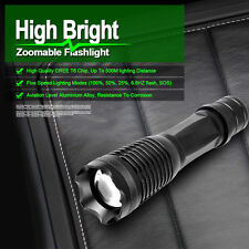 Ultrafire CREE XM-L T6 Tactical Zoomable 5000 Lumen LED Flashlight Torch Lamp
