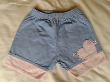 BABY GIRLS SHORTS 6-9 MONTHS HARDLY WORN ABSOLUTELY IMMACULATE