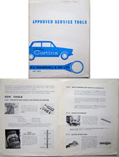 FORD CONSUL CORTINA Mk 1 original illustré Churchill Service liste d'outils 1962