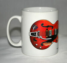 Guitar Mug. Stray Cats Brian Setzer's 6120 Chet Atkins guitar illustration.