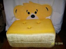 Build a Bear Workshop Yellow Chair Bed Plush For Bears or Dolls