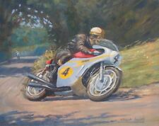 Mike Hailwood Honda Isle of Man TT RC181 Racing Classic Motorbike Art Print