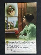 Vintage Postcard - Bamforth Song Card #72 - Love Will Live Longer Than Roses (3)