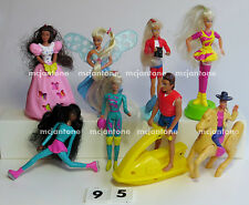 LOOSE McDonald's Happy Meal 1995 BARBIE Doll HAIR Set of 8 Complete LIFEGUARD