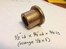 Oilite Flange Bushing Bronze New 1/2 id x 3/4 x3/4 Brass Bearing Shim Spacer F36