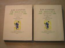 LOT 2 LIVRES / LES CONTES DE BOCCACE TOMES 1 ET 2 / 1934 / ED. LIMITEE 2500 EX