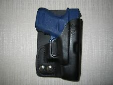 GLOCK 26 & 27 & 33 formed leather LEFT HAND, wallet and pocket holster